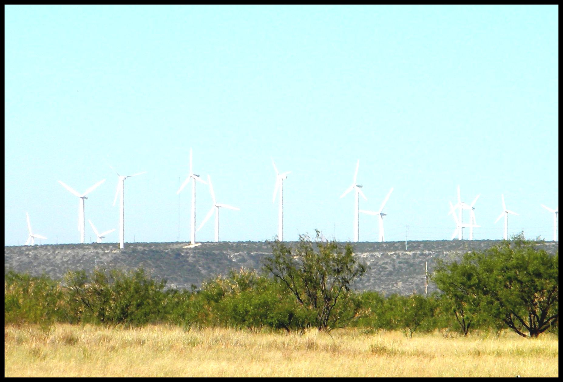 Wind Farm Near Big Spring