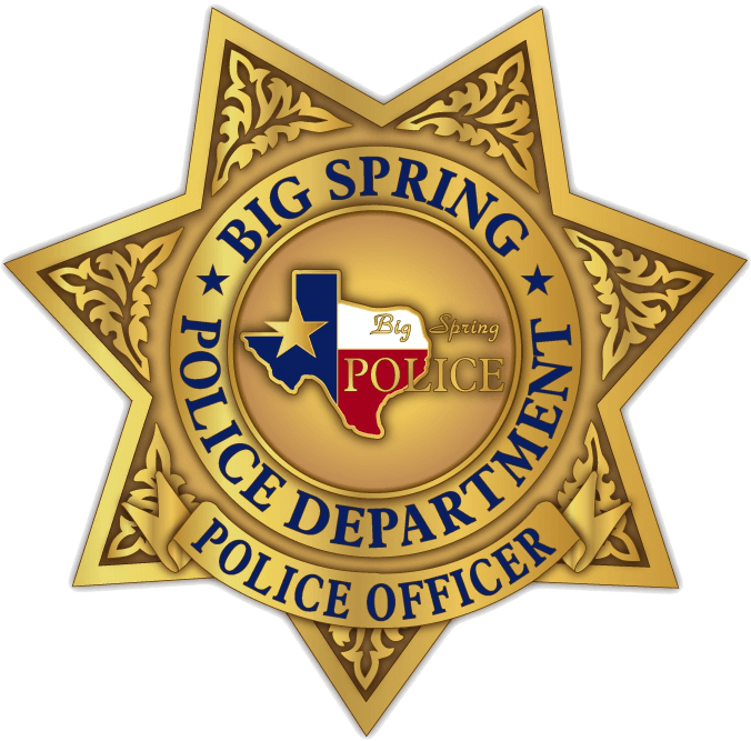 Big Spring Police Department Badge